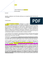 Derecho de Peticion Fotomulta Sin Notificacion en Simit