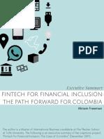 Fintech for fonancial inclusion
