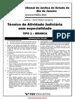 Tjrj Nm Tecnico de Atividade Judiciaria Sem Especialidade Tecatjud Tipo 1