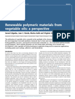 Renewable polymeric materials from vegetable oils