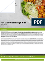 Waitr Earnings Call Slides (5.8.19)