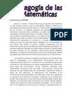 Pedagogía de Las Matemáticas