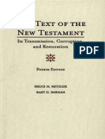 Ehrman, Bart D._ Metzger, Bruce Manning - The text of the New Testament _ its transmission, corruption, and restoration (2005, Oxford University Press).pdf