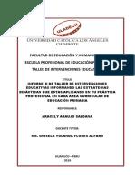 II Informe-estrategias Didacticas