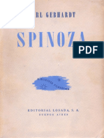 Spinoza de Carl Gebhardt
