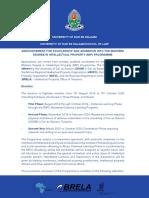 Eligible Postgraduate Programmes 2019