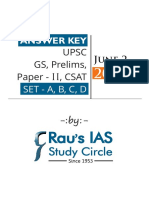 UPSC Paper II Answer Keys