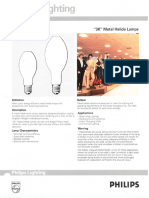 Philips 3K Metal Halide Lamps Bulletin 3-92