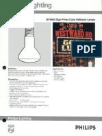 Philips 30 Watt Sign Prime Color Reflector Lamps Bulletin 8-89