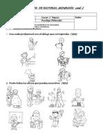 Evaluacion Oficios y Profesiones 1ro Basico