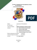 PRACTICA Nº 2 BALANCE DE ENERGÍA  COMPRESOR-CILINDRO Y TANQUE