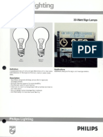 Philips 33 Watt Sign Lamps Bulletin 8-89