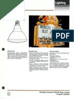 Philips 55 Watt Colored PAR-38 Sign Lamps Bulletin 3-88