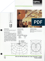 Philips 250 & 400 Watt Double Arc Tube Ceramalux Lamps Bulletin 5-86