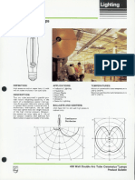 Philips 400 Watt Double Arc Tube Ceramalux Lamps Bulletin 12-85