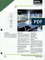 Philips 400 Watt Universal Burning Metal Halide Lamps Bulletin 10-85