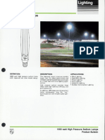 Philips 1000 Watt HPS Ceramalux Lamp Bulletin 10-85