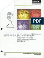 Philips Accent 1200 MR-16 Halogen Color Display Lamps Bulletin 2-86