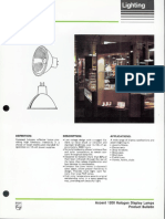 Philips Accent 1200 MR-16 Halogen Display Lamps Bulletin 2-86