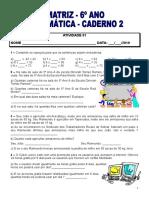 Caderno 2 6c2ba Ano Geometriatabelas Grc3a1ficos Frac3a7c3a3o