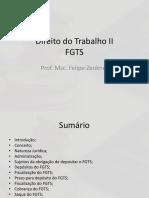 Direito Do Trabalho II - Aula 7 - FGTS