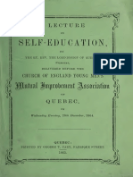 A Lecture on Self-education