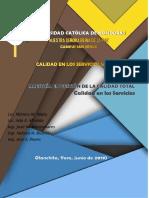 Informe de Calidad en Los Servicios Web