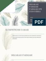 Sejarah Farmasi Dan Farmakope