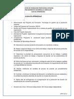 GT 19 (3) Implementar El Programa de Producción Según Herramientas CPM, PERT, JIT y Necesidades de La Organización
