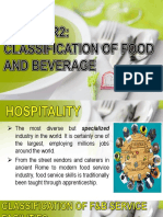 Fbs-chapter2-Classification of Food and Beverage