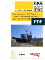 Requirements for Tower Cranes Alongside Railways Controlled by NR