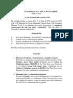 Acta de Constitución Asaalsan