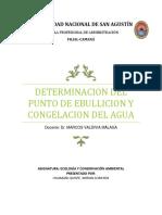 DETERMINACION DEL PUNTO DE EBULLICION Y CONGELACION DEL AGUA.docx
