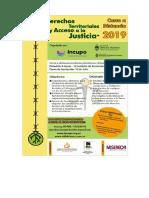 Curso virtual de Derechos Territoriales y Acceso a la Justicia - Folleto