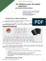 Sistemática Da Tablatura Para Acordeão Diatônico