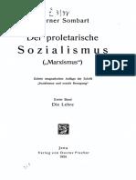 Sombart Proletarische Sozialismus