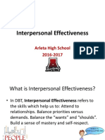Interpersonal Effectiveness 2016-2017 Lesson PPT