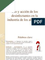 Seminario - Uso y acción de los desinfectantes en IA