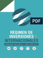 Régimen de Inversiones Internacionales 2018