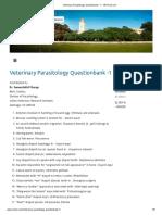 Veterinary Parasitology Questionbank -1 – VETCOS.com