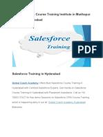 Best Salesforce Course Training Institute in Madhapur Ameerpet Hyderabad