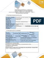 Guía de Actividades y Rúbrica de Evaluación - Fase 1 - Reconocimiento Personal