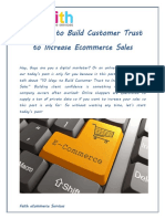 10 Ways to Build Customer Trust to Increase Ecommerce Sales Converted