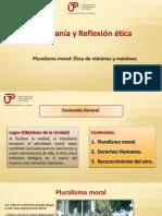 4ta. Clase Pluralismo Moral y Ética de Mín. y Máx.