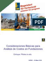 20190520 Costos en Fundaciones - Doc. Bawer