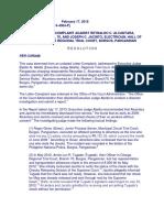 18. Complaint against Alcantara, AM No. P-15-3296, Feb. 17, 2015.pdf