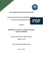 Informe Ambiental de La Mina Escuela Pomperia