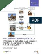 Optimization of the Fleet Per Shovel Productivity in Surface Mines
