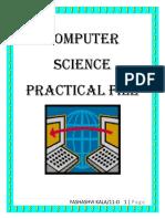 CS Practical File