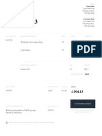 Invoice Template in Word Doc and CO From Fiverr